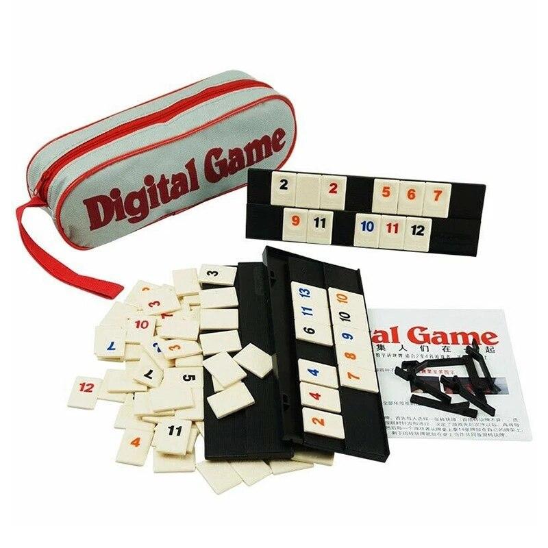 Новая быстрая движущаяся черепица румми из Израиля, классическая настольная игра на 2-4 человек, цифровая игра маджонг, домашняя игра, семейв...
