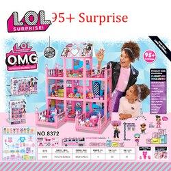 ¡LOL sorpresa casa Original con 85 + sorpresas! Regalo de Navidad para niños juguete para jugar a las casitas para niñas