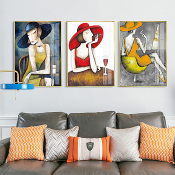 Modern Vogue Woman Portrait by Amedeo Modigliani Canvas Print Painting Poster Wall Pictures for Living Room Home Decor Wall Art image