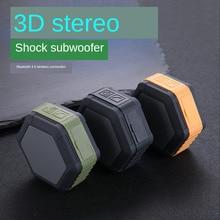 цена на Bluetooth 4.0 Speaker Waterproof Stereo Column Portable Speaker with Mic FM Radio MP3 Bass Sound Box