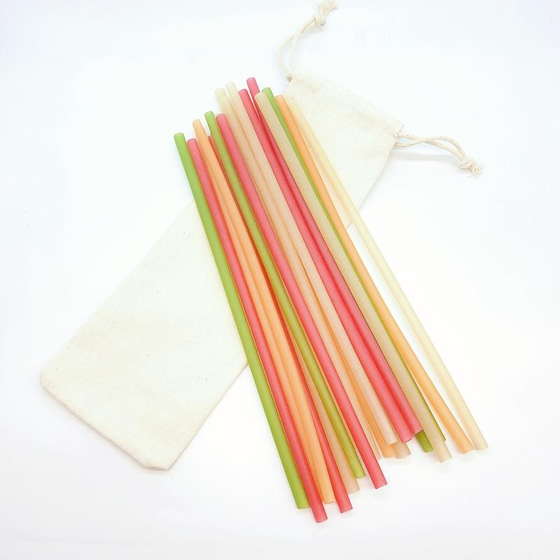 Disposable straws eco friendly 100% Natural Bamboo Sugarcane Biodegradable Eco drnking Rice Straw
