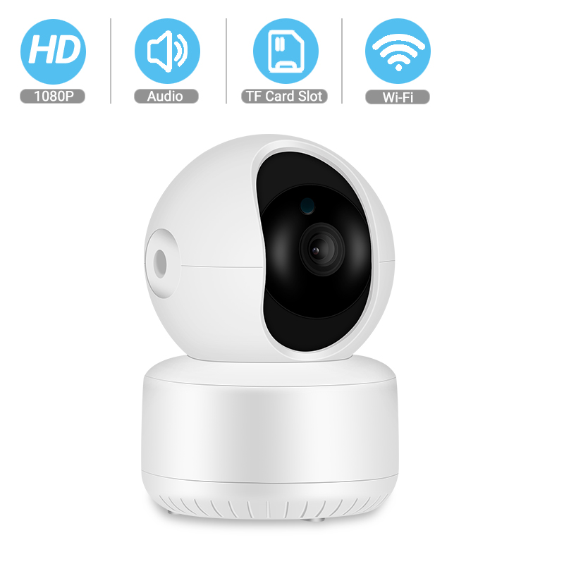 BESDER 1080P FHD Home Security IP Camera Cloud P2P WiFi Camera Audio Record 360 Degrees Baby Monitor HD IR Night Vision Camera