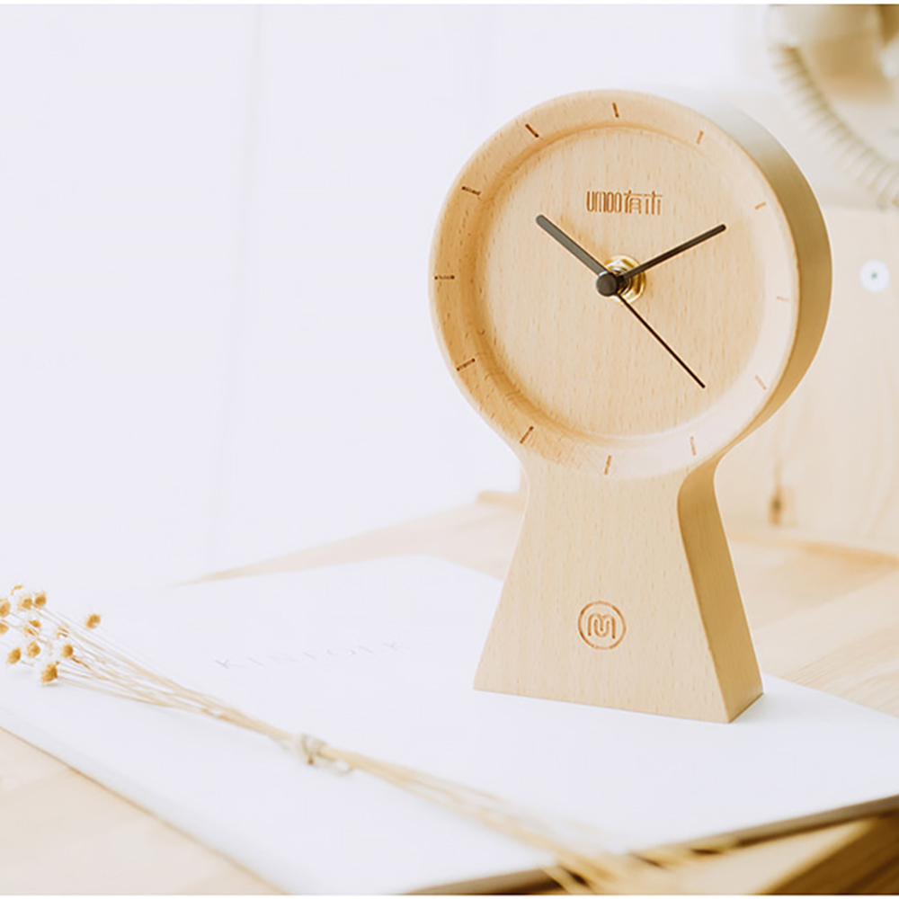 Réveil fait main bois matériau écologique horloge ensoleillée silencieux Non coutil horloge en bois pour bureau maison chambre salon