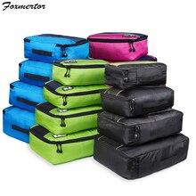 Foxmertor, упаковочные кубики, модная дорожная сумка для путешествий, сетчатая упаковка, органайзер, дышащий нейлон, для мужчин и женщин, для путешествий, чемодан, органайзер, набор