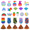 Silicone Cartoon Sun Flower Glitter Push Bubble Sensory Squeezing Toy Anti-stress Relaxing Fidget Toy Stress Relieve Autism Need