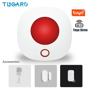 yobangsecurity cheap lcd display voice prompt gsm wireless burglar alarm system security home with strobe siren panic button Tuya Wireless Siren 433MHz strobe siren Alarm Horn 110dB Light Siren For Home Security Burglar Alarm Sound System