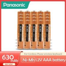 Panasonic 1,2 V Ni-MH nimh 630mAh AAA аккумуляторные батареи для беспроводного телефона Беспроводная мышь клавиатура игрушечные часы 1200 циклов