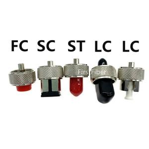 Image 2 - OTDR transfer connector FC ST SC LC adaptor OTDR Fiber Optic Connector For Optical Time Domain Reflectometer Fiber Adapter
