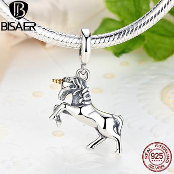Authentic 925 Sterling Silver Charm Pure Legend Licorne Pendant Charm Beads Fit Charm Bracelet DIY Making Valentine Day Gift фото