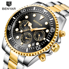 2020 BENYAR Fashion Mens Watches Stainless Steel Top Brand Luxury Spor