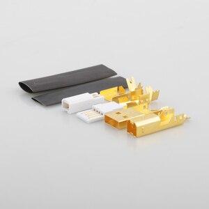 Image 4 - Connecteur USB plaqué or haut de gamme USB A + prise de USB B de Type A B pour câble USB bricolage Taiwan