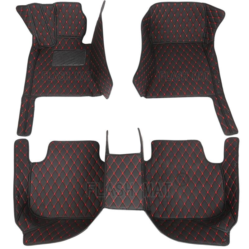 Flash mat leather car floor mats For Hyundai all models i30 ix25 ix35 solaris elantra terracan accent azera lantra