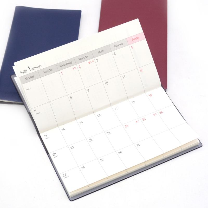 Notebook Agenda 2019 2020 Planner Leather Diary Caderno Defter Papelaria Cuadernos Y Libretas School Small Pocket Notepad