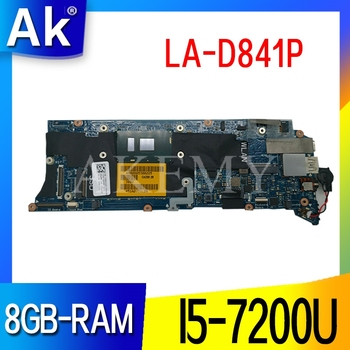 LA-D841P Laptop motherboard for Dell XPS-13 9350 original mainboard 8GB-RAM I5-7200U