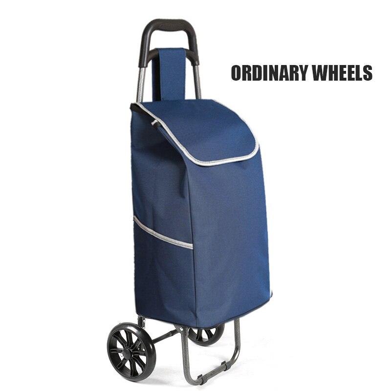 Поднимайтесь вверх, тележка для покупок, большие товары, товары, чехол на колесиках, складная тележка для прицепа, бытовая Портативная сумка для покупок, женская сумка - Цвет: Single wheel version