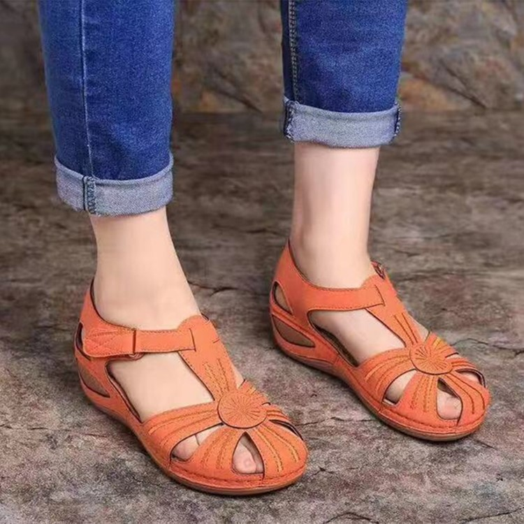 Women's Sandals Shoes Ladies Girls Comfortable Ankle Hollow Round Toe Sandals Soft Sole Shoes Fashion Large Size Sandals Shoes