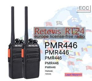 Image 2 - Retevis RT24 PMR Radio Walkie Talkie 2pcs 0.5W PMR446 License free Two way Radio Station Handy Walkie talkies Radio Communicator