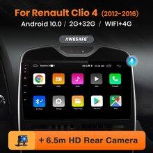 AWESAFE PX9 jugador para Renault Clio IV/2012-2016 2 Din Radio de navegación GPS Android Renault ZOE accesorios Clio-4 Autoradio