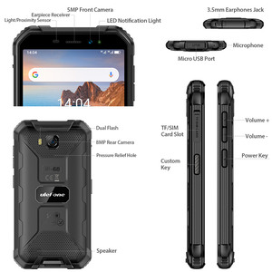 Image 4 - Ulefone Armor X6 IP68 MT6580 Rugged Waterproof Smartphone Android 9.0 Cell Phone Mobile Phon/Quad core/ 4000mAh /2GB 16GB /3G