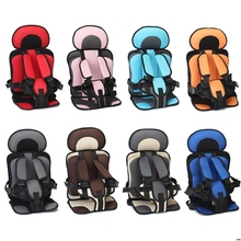 цена на Travel Baby Safety Seat Cushion with Infant Safe Belt Fabric Mat Portable Little Child Carrier Children Car Safety Seat For Baby