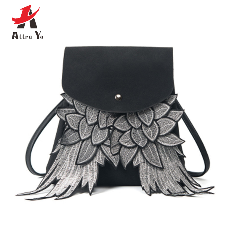 XIKEMADE Fashion Individuality Woman Backpack Girl Preppy Style Angel Wings Design Backpack Women Mochila Feminina Mochila Mujer