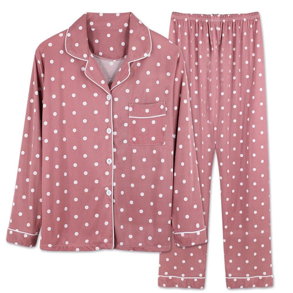 Nhkdsasa marca conjunto de pijama para mulheres algodão sleepwear manga longa pijamas calças terno impressão moda 2 peças camisola macia