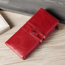 Новая, модная, хорошего качества, натуральная кожа кошелек, бумажник леди несет персонализированные кожаный браслет Rfid бумажник с отделениями для карт
