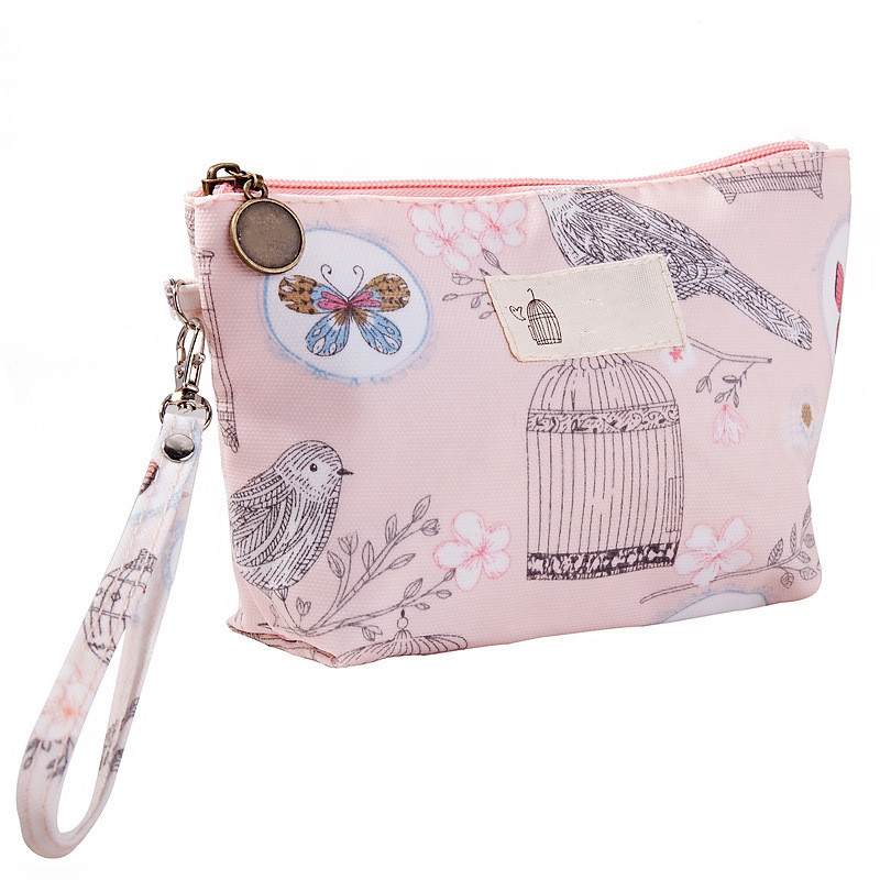 Travel Make Up Bag Organizer Zipper Flower Cosmetic Bag Women Lady Tote Washing Toiletry Makeup Pouch Bags