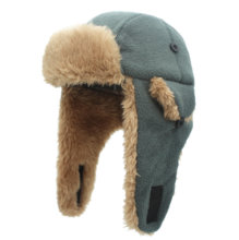Connectyle Toddler Boys Kids Fleece Trapper Sherpa Lined Windproof Winter Russian Hat with Large Flaps Warm Ski Hat