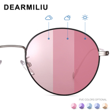 DEARMILIU 2020 new Retro round frame discoloration Sunglasses trend Blu