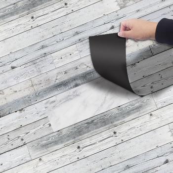 Vinyl Floor Stickers Pvc Self-adhesive Wood Grain Wallpaper Roll Waterproof Tiles Sticker Bedroom Living Room Home Decor