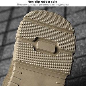 Image 5 - Botas Vintage estilo británico para hombre Botas de otoño para hombre al aire libre de cuero genuino a prueba de agua botas de tobillo de invierno para senderismo
