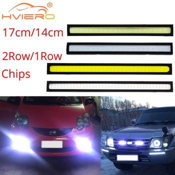 цена на 14cm 17cm White Blue Red COB DRL LED DC 12V 28 76Leds Daytime Running Light Auto Lamp External Light Waterproof Fog Lamp Car Led