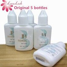 משלוח חינם סיטונאי 5 בקבוקים/הרבה אני יופי IB ברור ג ל מסיר ריס הרחבות דבק מפני Korea15ml לאש איפור כלים