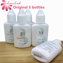 Free Shipping Wholesale 5 bottles/lot I Beauty IB Clear Gel Remover For Eyelash Extensions Glue from Korea15ml lash makeup tools