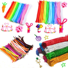 Pipe-Cleaner Toys Craft-Supplies Stems-Pipe Glitter Handmade Chenille Kids Plush DIY