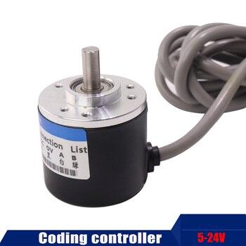 Top Free shipping 1pcs Encoder 400P/R Incremental Rotary Encoder 400p/r AB phase encoder 6mm Shaft for CNC фото