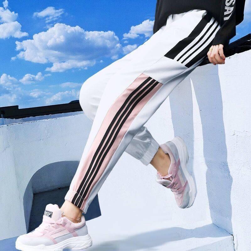 Plus Size Harem Pants For Women Loose Beam Legs Ankle-Length Elastic Waist Pants Casual Women Gym Harajuku Pants Funny Trousers