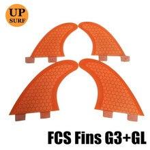цены FCS G3+GL Fins Surfboards Fin Honeycomb Fiberglass Quilhas prancha de Surf Paddling Fin upsurf