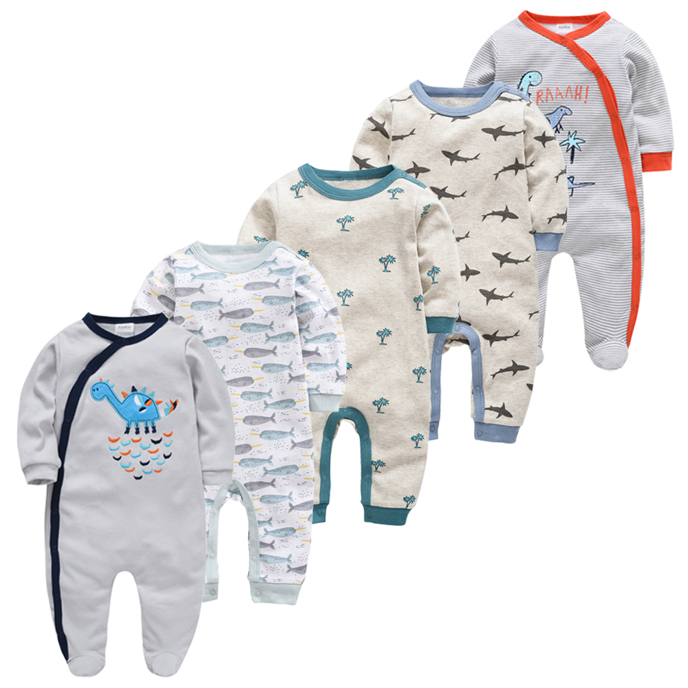 5pcs Pyjamas Newborn Girl Boy Pijamas Bebe Fille Cotton Breathable Soft Ropa Bebe Newborn Sleepers Baby Pjiamas
