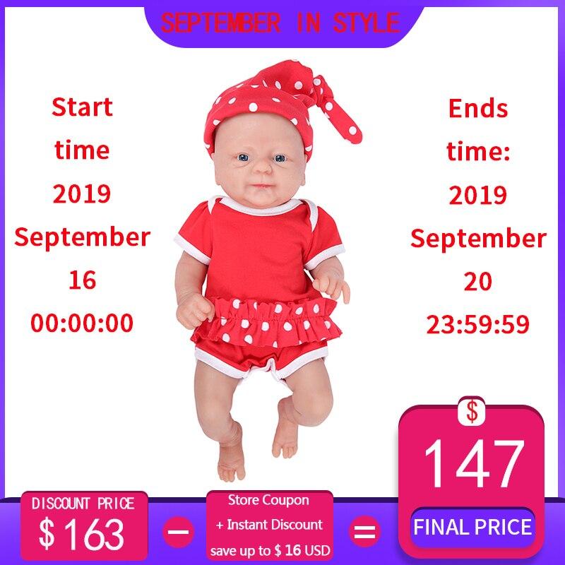 IVITA WG1512 36cm 1.65kg boneca bebe reborn de silicone de corpo Inteiro com 3 cores dos olhos realistas brinquedo do bebê menina para as crianças com roupas