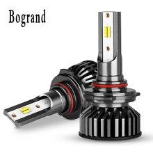 Bogrand H4 LED H7 H11 H8 9006 9005 H1 9012 H9 araba oto farlar yüksek düşük işın ampul otomobil lambası 12 V 28 V