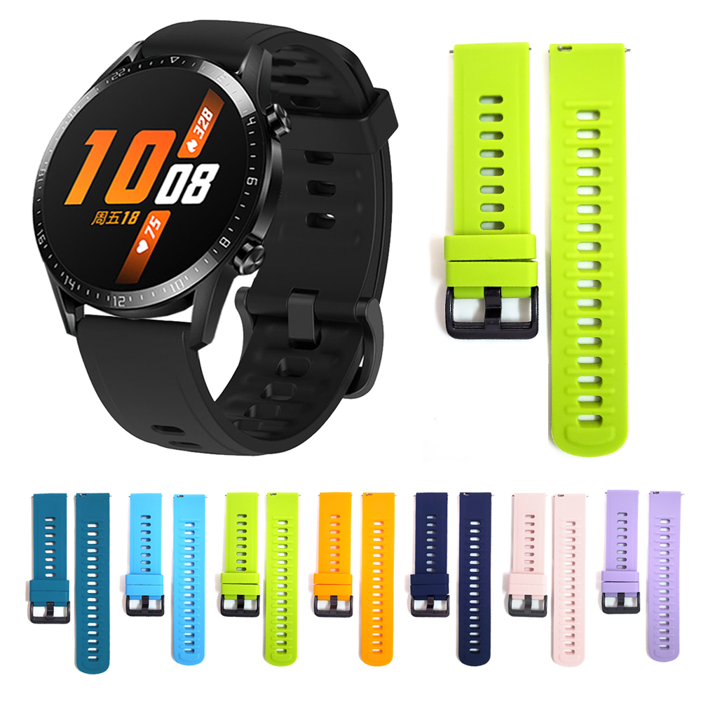 Watchband For HUAWEI WATCH GT 2 46mm 42mm Silicone Wrist Strap Band For HONOR Magic / GT2 Sport/Classic/Elite Edition Bracelet