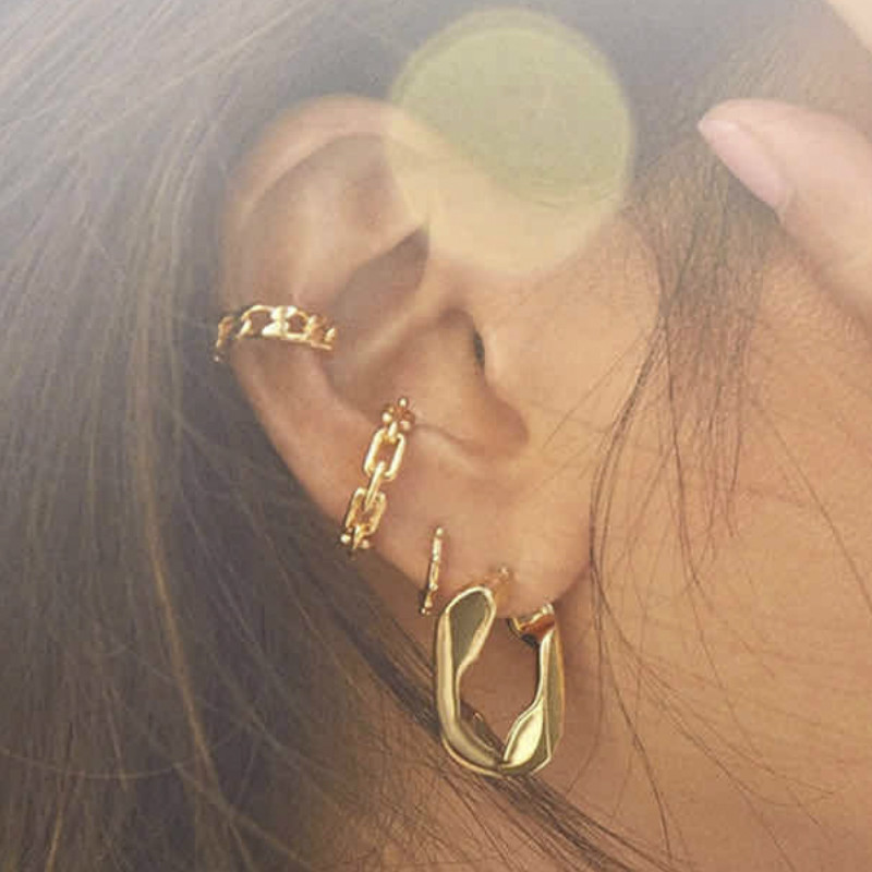 2020Round Fashion Ear Bone Clip Simple No Ear Hole Women's Ear Clip Round Small Earrings for Women Gift Jewelry