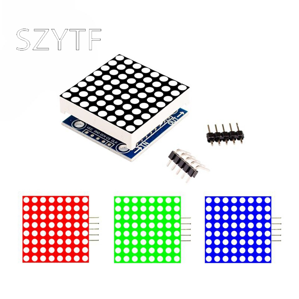 8x8LED Dot Matrix Module MAX7219 Display Module DIY Module MCU Control Module