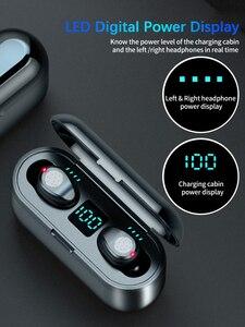 Image 3 - Новинка F9 Беспроводные Bluetooth 5,0 наушники TWS HIFI мини в ухо спортивная Гарнитура для бега Поддержка iOS/Android телефоны HD звонки