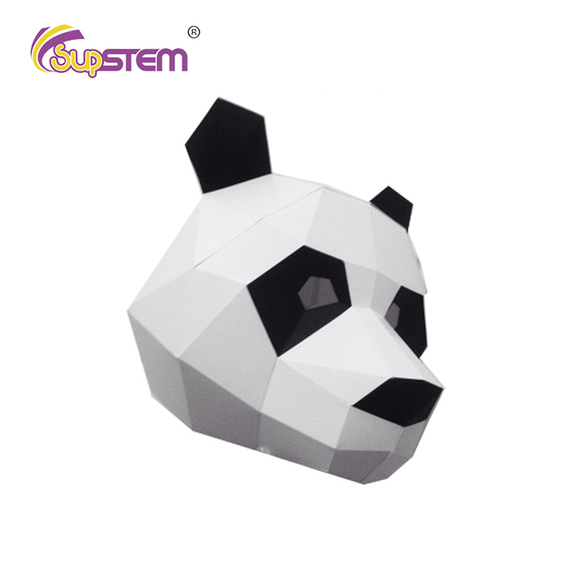 3D Paper Model Papercraft DIY Face Mask Panda Prank Toys Funny Joke Cool Stuff Crazy Cosplay Halloween Interesting Gift