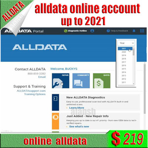 Image 1 - 2020 أحدث Alldata + ميشيل إصلاح السيارات البرمجيات على الانترنت حساب regste لا تحتاج إلى قرص صلب دعم هاتف ذكي الوسادة تصفح