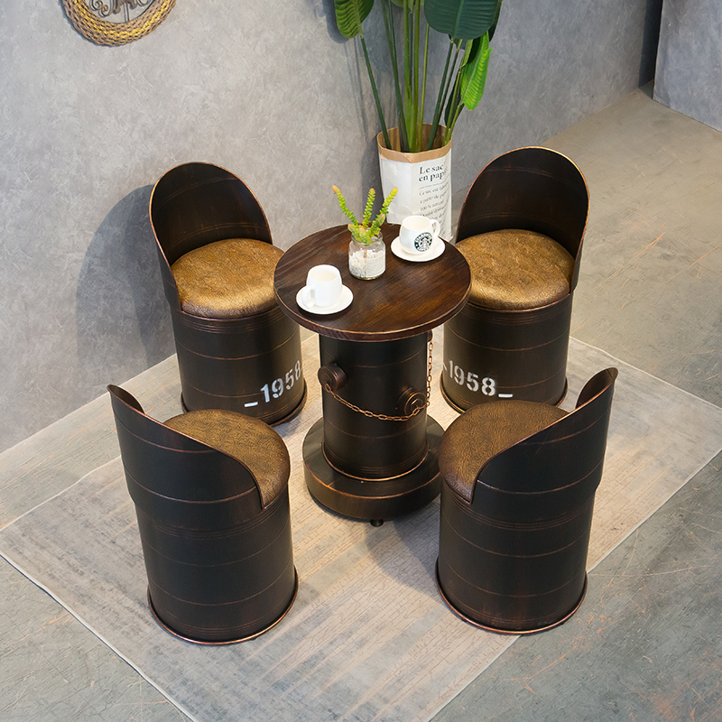 Simple Real Wood Creative Chair European Metal Sgabello Bar Retro High Foot Bench Fauteuil Stool Silla Banqueta Cadeira