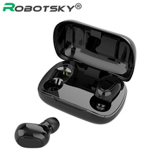New L21 TWS Wireless Earphones Bluetooth V5.0 HIFI Stereo Sound Noise Conceling IP67 Waterproof